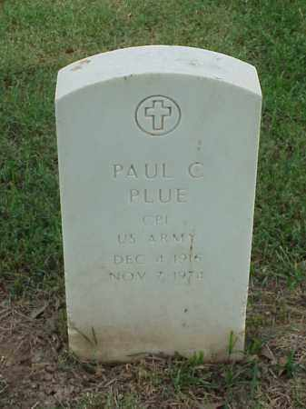 PLUE (VETERAN WWII), PAUL C - Pulaski County, Arkansas | PAUL C PLUE (VETERAN WWII) - Arkansas Gravestone Photos