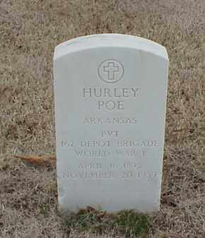 POE  (VETERAN WWI), HURLEY - Pulaski County, Arkansas | HURLEY POE  (VETERAN WWI) - Arkansas Gravestone Photos