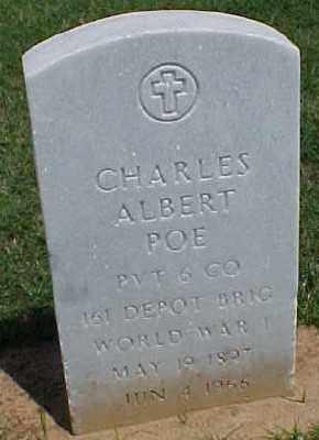 POE (VETERAN WWI), CHARLES ALBERT - Pulaski County, Arkansas | CHARLES ALBERT POE (VETERAN WWI) - Arkansas Gravestone Photos