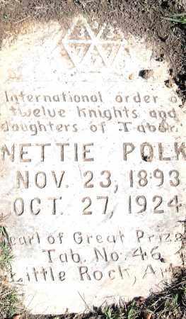 POLK, NETTIE - Pulaski County, Arkansas   NETTIE POLK - Arkansas Gravestone Photos
