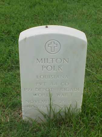 POLK (VETERAN WWI), MILTON - Pulaski County, Arkansas   MILTON POLK (VETERAN WWI) - Arkansas Gravestone Photos