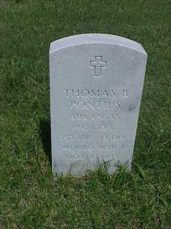 PONTIUS (VETERAN WWI), THOMAS B - Pulaski County, Arkansas | THOMAS B PONTIUS (VETERAN WWI) - Arkansas Gravestone Photos