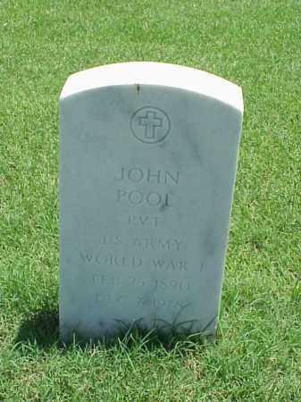 POOL (VETERAN WWI), JOHN - Pulaski County, Arkansas   JOHN POOL (VETERAN WWI) - Arkansas Gravestone Photos