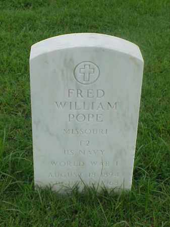 POPE (VETERAN WWI), FRED WILLIAM - Pulaski County, Arkansas | FRED WILLIAM POPE (VETERAN WWI) - Arkansas Gravestone Photos