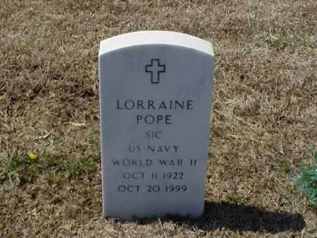 POPE (VETERAN WWII), LORRAINE - Pulaski County, Arkansas   LORRAINE POPE (VETERAN WWII) - Arkansas Gravestone Photos