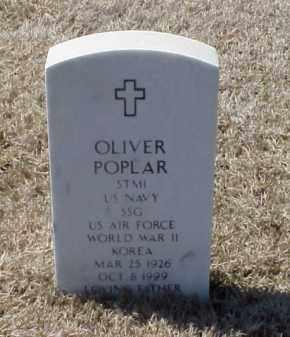 POPLAR (VETERAN 2 WARS), OLIVER - Pulaski County, Arkansas   OLIVER POPLAR (VETERAN 2 WARS) - Arkansas Gravestone Photos
