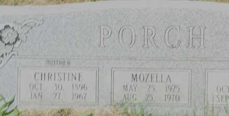 PORCH, CHRISTINE (CLOSE UP) - Pulaski County, Arkansas   CHRISTINE (CLOSE UP) PORCH - Arkansas Gravestone Photos