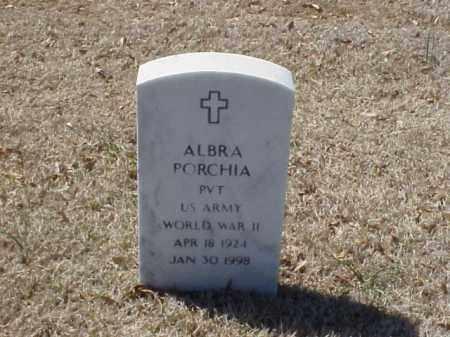 PORCHIA (VETERAN WWII), ALBRA - Pulaski County, Arkansas | ALBRA PORCHIA (VETERAN WWII) - Arkansas Gravestone Photos