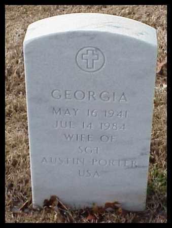 PORTER, GEORGIA - Pulaski County, Arkansas   GEORGIA PORTER - Arkansas Gravestone Photos