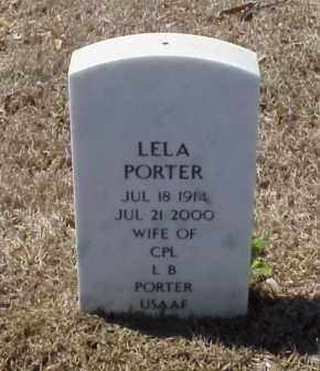 PORTER, LELA - Pulaski County, Arkansas   LELA PORTER - Arkansas Gravestone Photos