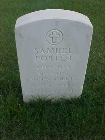 PORTER (VETERAN WWI), SAMUEL - Pulaski County, Arkansas | SAMUEL PORTER (VETERAN WWI) - Arkansas Gravestone Photos