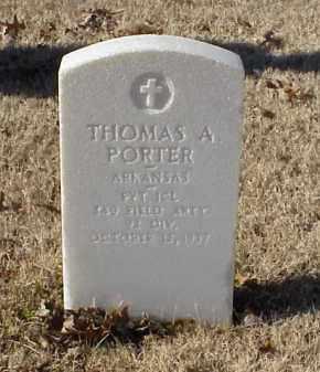 PORTER (VETERAN WWI), THOMAS A - Pulaski County, Arkansas | THOMAS A PORTER (VETERAN WWI) - Arkansas Gravestone Photos