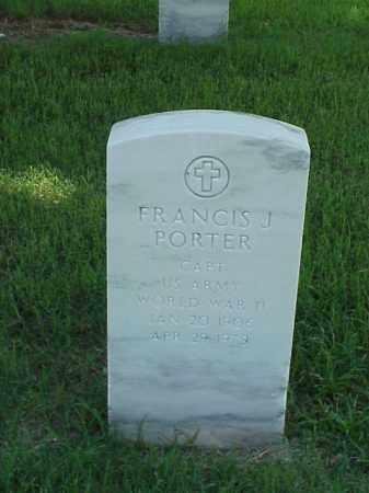 PORTER (VETERAN WWII), FRANCIS J - Pulaski County, Arkansas | FRANCIS J PORTER (VETERAN WWII) - Arkansas Gravestone Photos