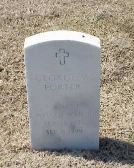 PORTER (VETERAN WWII), GEORGE W - Pulaski County, Arkansas | GEORGE W PORTER (VETERAN WWII) - Arkansas Gravestone Photos