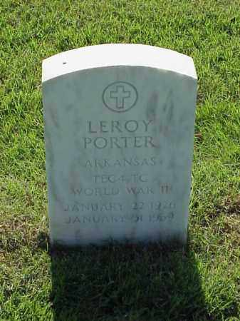 PORTER (VETERAN WWII), LEROY - Pulaski County, Arkansas   LEROY PORTER (VETERAN WWII) - Arkansas Gravestone Photos