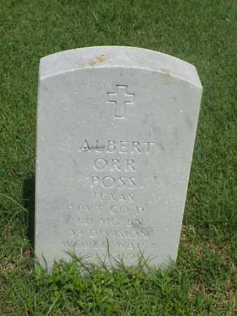 POSS (VETERAN WWI), ALBERT ORR - Pulaski County, Arkansas | ALBERT ORR POSS (VETERAN WWI) - Arkansas Gravestone Photos