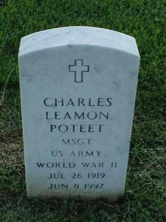 POTEET (VETERAN WWII), CHARLES LEAMON - Pulaski County, Arkansas | CHARLES LEAMON POTEET (VETERAN WWII) - Arkansas Gravestone Photos