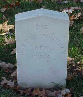 POUNCEY (VETERAN CSA), ROBERT J - Pulaski County, Arkansas | ROBERT J POUNCEY (VETERAN CSA) - Arkansas Gravestone Photos