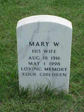 POWELL, MARY W - Pulaski County, Arkansas   MARY W POWELL - Arkansas Gravestone Photos