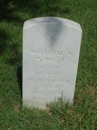 POWELL (VETERAN 2 WARS), WILLIAM A - Pulaski County, Arkansas   WILLIAM A POWELL (VETERAN 2 WARS) - Arkansas Gravestone Photos