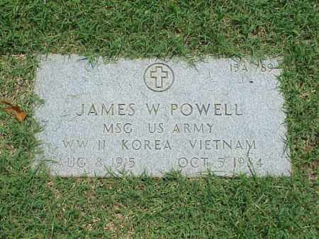 POWELL (VETERAN 3 WARS), JAMES W - Pulaski County, Arkansas   JAMES W POWELL (VETERAN 3 WARS) - Arkansas Gravestone Photos