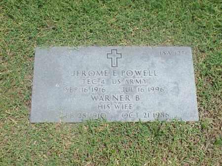 POWELL, WARNER B - Pulaski County, Arkansas | WARNER B POWELL - Arkansas Gravestone Photos