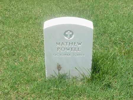 POWELL, MATHEW - Pulaski County, Arkansas | MATHEW POWELL - Arkansas Gravestone Photos