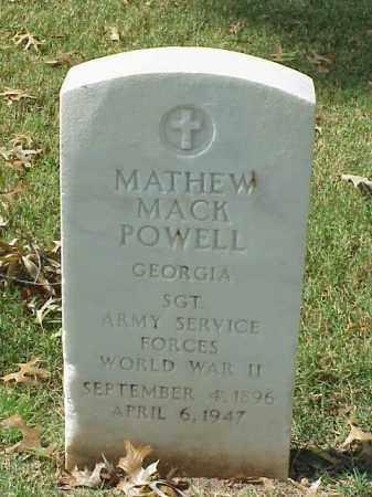 POWELL (VETERAN WWII), MATHEW MACK - Pulaski County, Arkansas | MATHEW MACK POWELL (VETERAN WWII) - Arkansas Gravestone Photos