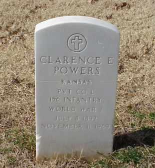 POWERS (VETERAN WWI), CLARENCE E - Pulaski County, Arkansas | CLARENCE E POWERS (VETERAN WWI) - Arkansas Gravestone Photos