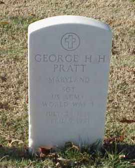 PRATT (VETERAN WWI), GEORGE H H - Pulaski County, Arkansas   GEORGE H H PRATT (VETERAN WWI) - Arkansas Gravestone Photos