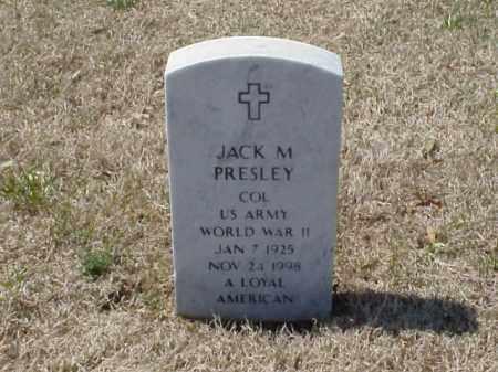 PRESLEY (VETERAN WWII), JACK M - Pulaski County, Arkansas   JACK M PRESLEY (VETERAN WWII) - Arkansas Gravestone Photos