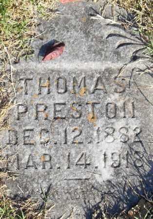 PRESTON, THOMAS - Pulaski County, Arkansas | THOMAS PRESTON - Arkansas Gravestone Photos