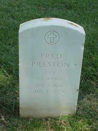 PRESTON (VETERAN WWI), FRED - Pulaski County, Arkansas   FRED PRESTON (VETERAN WWI) - Arkansas Gravestone Photos