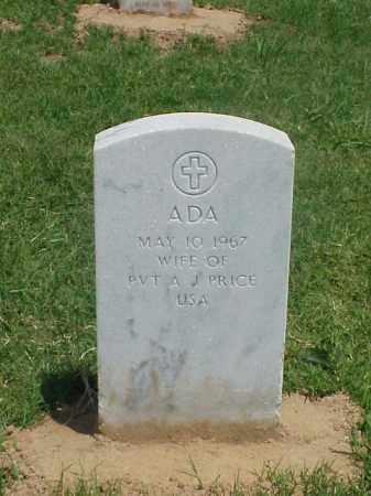 PRICE, ADA - Pulaski County, Arkansas   ADA PRICE - Arkansas Gravestone Photos