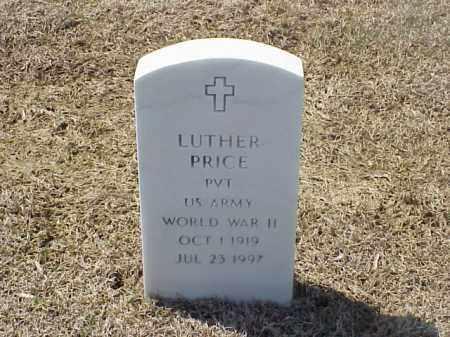 PRICE (VETERAN WWII), LUTHER - Pulaski County, Arkansas   LUTHER PRICE (VETERAN WWII) - Arkansas Gravestone Photos