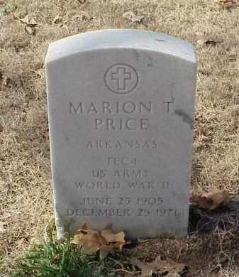 PRICE (VETERAN WWII), MARION T - Pulaski County, Arkansas   MARION T PRICE (VETERAN WWII) - Arkansas Gravestone Photos