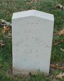 PRIDDY (VETERAN CSA), JAMES A - Pulaski County, Arkansas   JAMES A PRIDDY (VETERAN CSA) - Arkansas Gravestone Photos