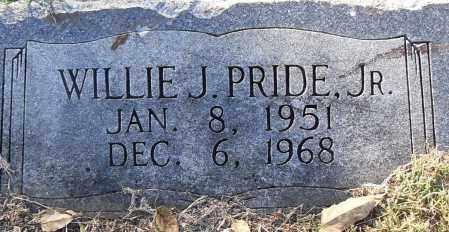 PRIDE, JR, WILLIE J - Pulaski County, Arkansas   WILLIE J PRIDE, JR - Arkansas Gravestone Photos