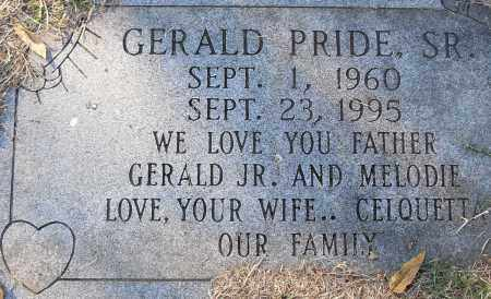 PRIDE, SR, GERALD - Pulaski County, Arkansas | GERALD PRIDE, SR - Arkansas Gravestone Photos