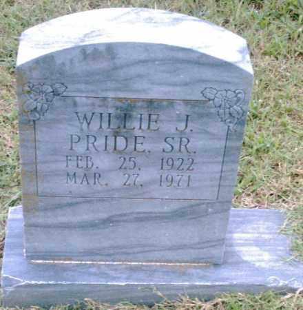 PRIDE, SR., WILLIE J. - Pulaski County, Arkansas | WILLIE J. PRIDE, SR. - Arkansas Gravestone Photos