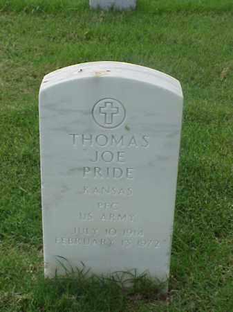 PRIDE (VETERAN), THOMAS JOE - Pulaski County, Arkansas | THOMAS JOE PRIDE (VETERAN) - Arkansas Gravestone Photos