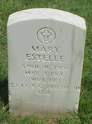 PRIEUR, MARY ESTELLE - Pulaski County, Arkansas | MARY ESTELLE PRIEUR - Arkansas Gravestone Photos