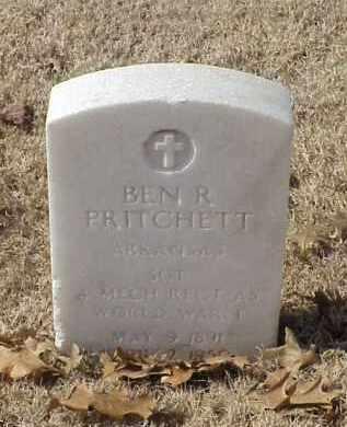 PRITCHETT (VETERAN WWI), BEN R - Pulaski County, Arkansas | BEN R PRITCHETT (VETERAN WWI) - Arkansas Gravestone Photos