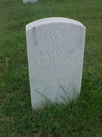 PRITCHETT (VETERAN WWII), EARLE N - Pulaski County, Arkansas | EARLE N PRITCHETT (VETERAN WWII) - Arkansas Gravestone Photos