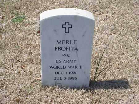 PROFITA (VETERAN WWII), MERLE - Pulaski County, Arkansas | MERLE PROFITA (VETERAN WWII) - Arkansas Gravestone Photos