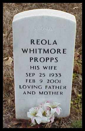 PROPPS, REOLA - Pulaski County, Arkansas   REOLA PROPPS - Arkansas Gravestone Photos