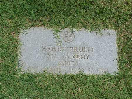 PRUITT (VETERAN KOR), HENRY - Pulaski County, Arkansas   HENRY PRUITT (VETERAN KOR) - Arkansas Gravestone Photos