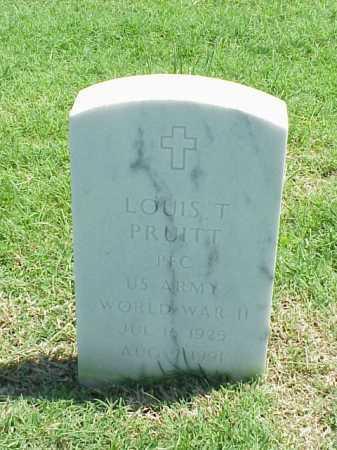 PRUITT (VETERAN WWII), LOUIS T - Pulaski County, Arkansas | LOUIS T PRUITT (VETERAN WWII) - Arkansas Gravestone Photos