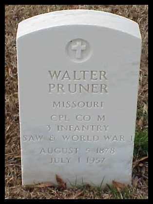 PRUNER (VETERAN 2 WARS), WALTER - Pulaski County, Arkansas | WALTER PRUNER (VETERAN 2 WARS) - Arkansas Gravestone Photos