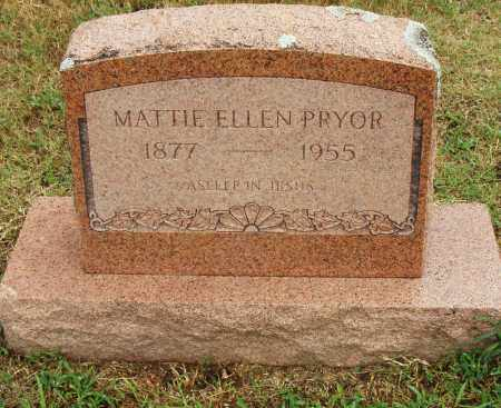PRYOR, MATTIE ELLEN - Pulaski County, Arkansas   MATTIE ELLEN PRYOR - Arkansas Gravestone Photos